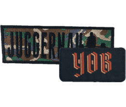 Custom band patches - example image of two rectangular patches