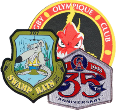 Custom band patches - example photo of woven patches
